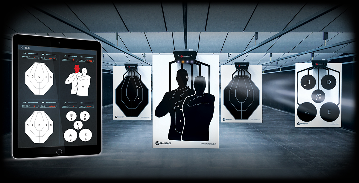 Trainshot electonic multiple targets training mode. You can connect several electronic targets to one tablet or smartphone and see in realtime your shooting results.