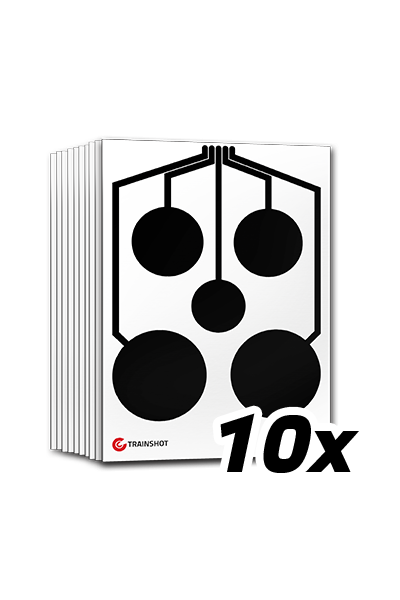 Circles electronic shooting target set 10 pcs