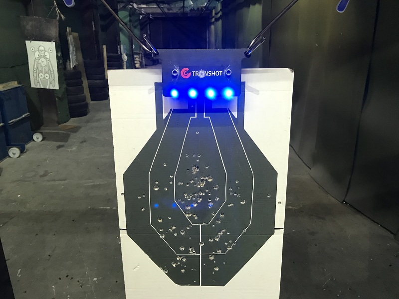 TrainShot smart target at shooting range