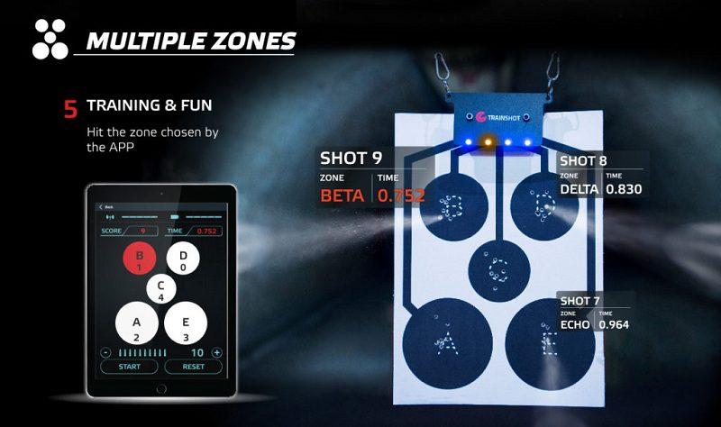 TrainShot Multi zone shooting