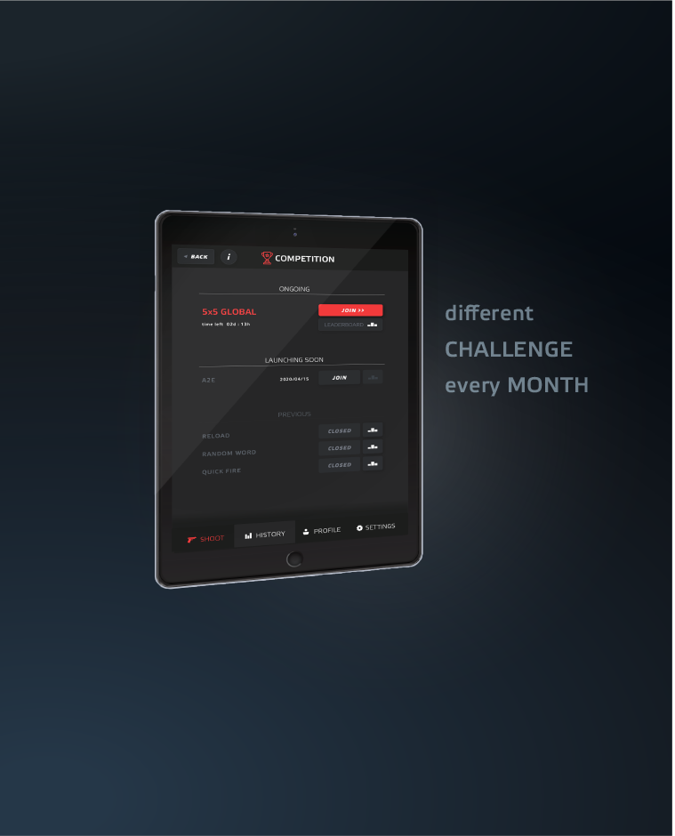 challenge global shooting results app mobile