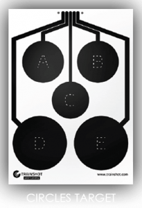 Circles smart shooting target