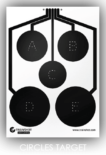 Circles smart shooting target